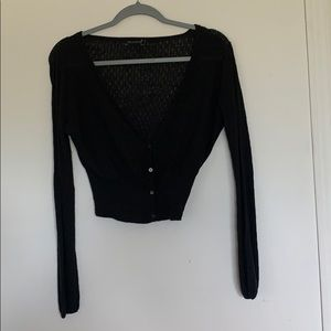 4/$25 The Limited Black Shrug Size Large Buttons